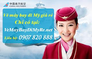 Vé máy bay đi Mỹ hãng China Southern