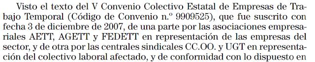 Convenio ETT
