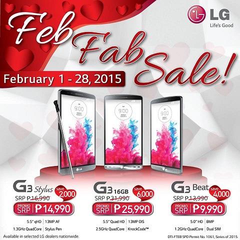 LG Feb Fab Sale