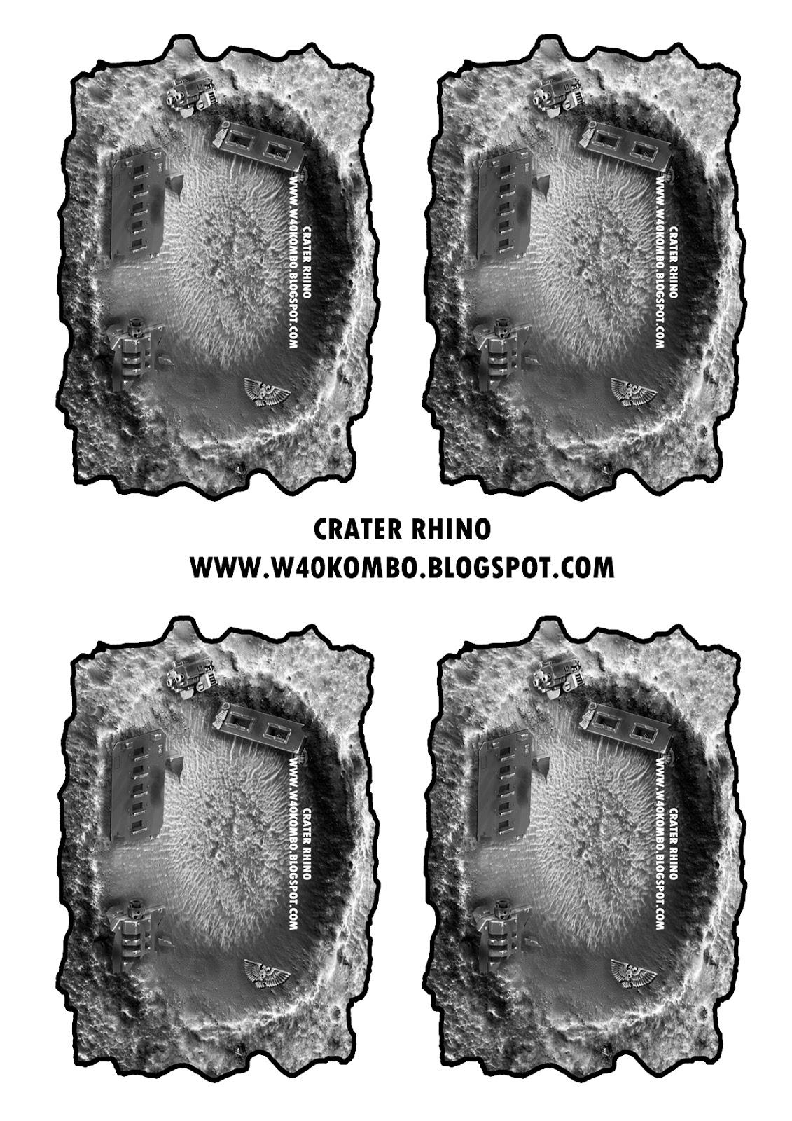 Plantillas de crateres descargables Crater+Rhino+A4