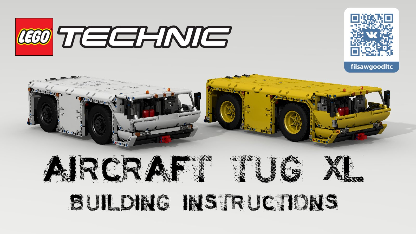 Filsawgood Lego Technic Creations Lego Technic Aircraft Tug Xl