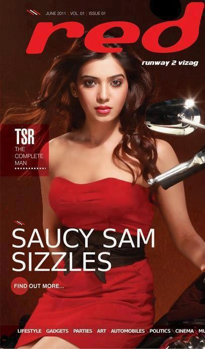 Samantha On the Cover Page Of Red Magazine
