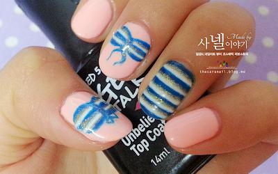 Bikini nail art, Summer nail art