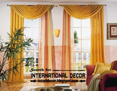 best modern curtain designs 2017 curtain ideas colors, yellow scarf curtains