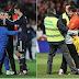 Messi niega el abrazo a un Niño Lapa en medio Granada vs Barcelona