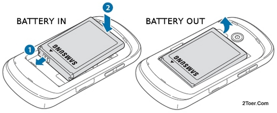 Assemble Remove Battery Samsung Galaxy Music GT S6010