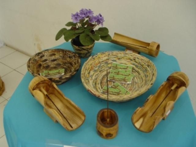 Artesanato Lider Formiga ~ CVT Formiga MG Curso Artesanato de Fibras Naturais Peças Utilitárias e Decorativas de Bambu