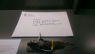 The mouse was anonymously delivered to the museum