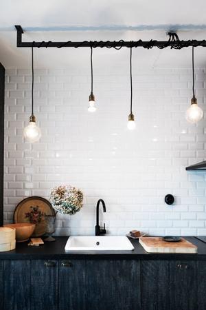 lampara bombillas cocina