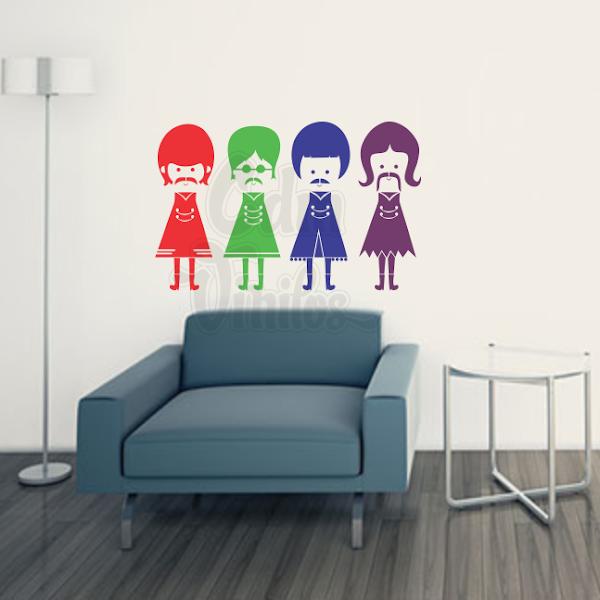 vinilo decorativo colores preferidos beatles