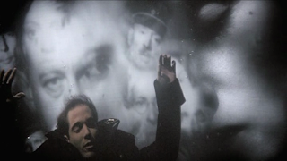 A Still from Europa's Finale, Leopold drowning, multiple exposure, Directed by Lars von Trier