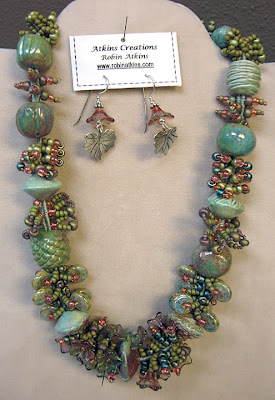finger-woven treasure necklace by Robin Atkins