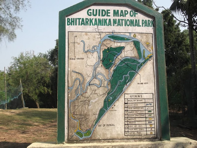 Bhiterkanika National Park, Map