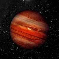 Jupiter planet in a starry space