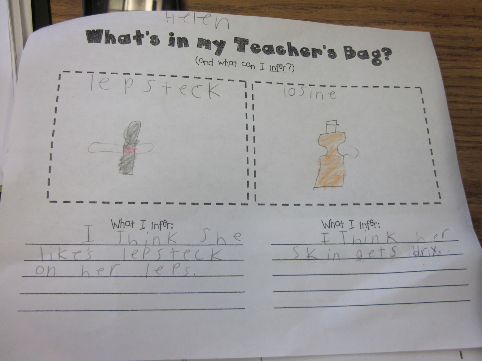 inference worksheets | Inferring our Schedule: Choice of one page ...