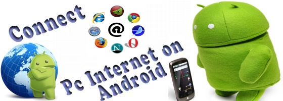 how to give internet to phone from pc