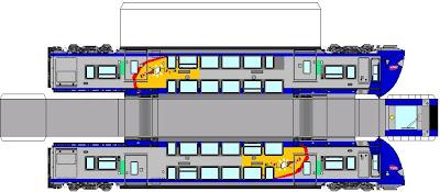 Maquette papier ter2n ng - Comment dessiner un train ...