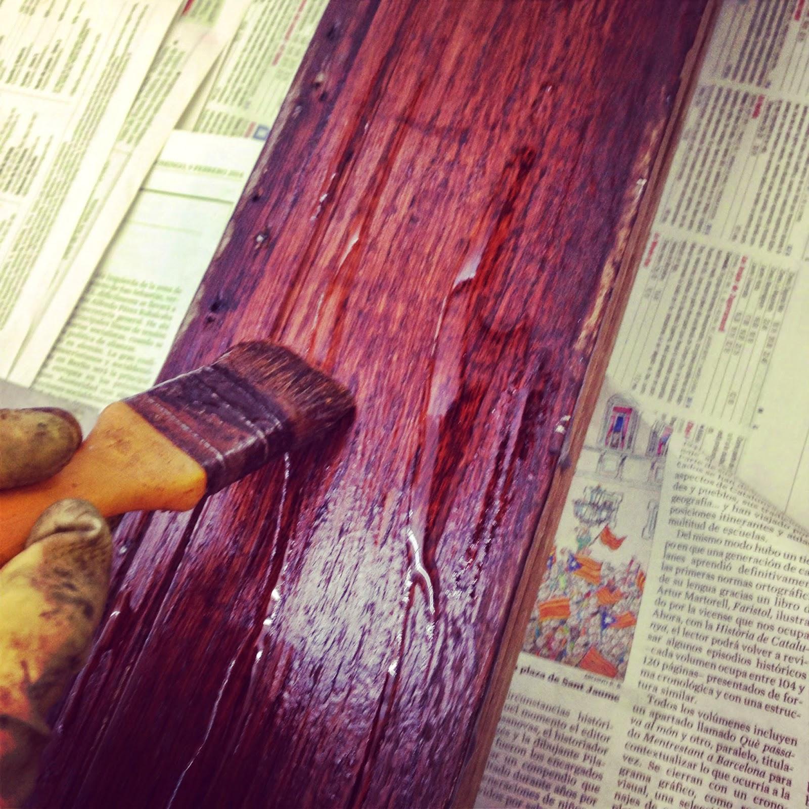Biombo archivos rojosill n for Decapante para madera