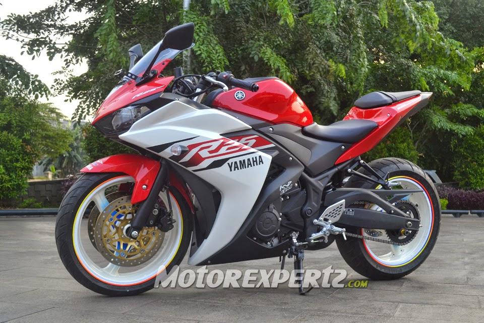 Modifikasi Yamaha R25 2014 Model Ban Gambot Keren Terbaru