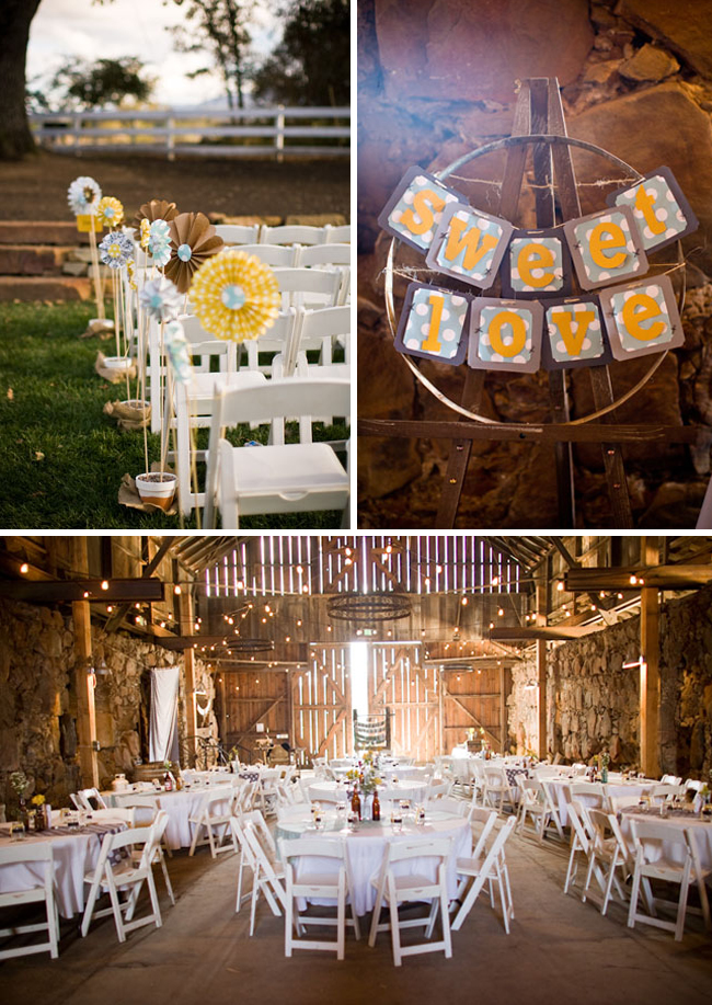 I also love the easy DIY decor ideas from the paper flowers lining the aisle