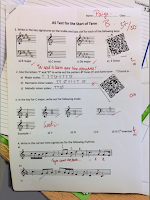 feedback with QR codes - teacher and musician