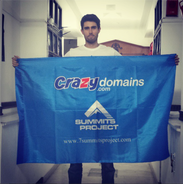 Crazy Domains sponsors Cody and the 7 Summits Project