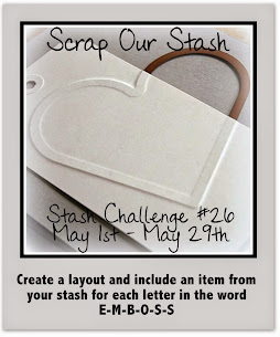 Stash Challenge #26~ Word EMBOSS
