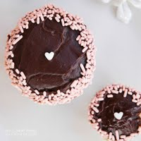CHOCOLATE GANACHE FROSTED CUPCAKES
