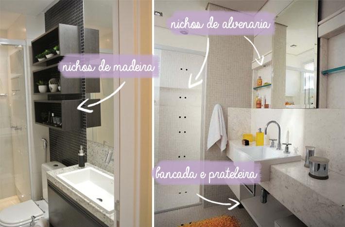 Dicas para banheiros pequenos  Comprando Meu Apê  Comprando Meu Apê -> Nichos Em Banheiros Pequenos