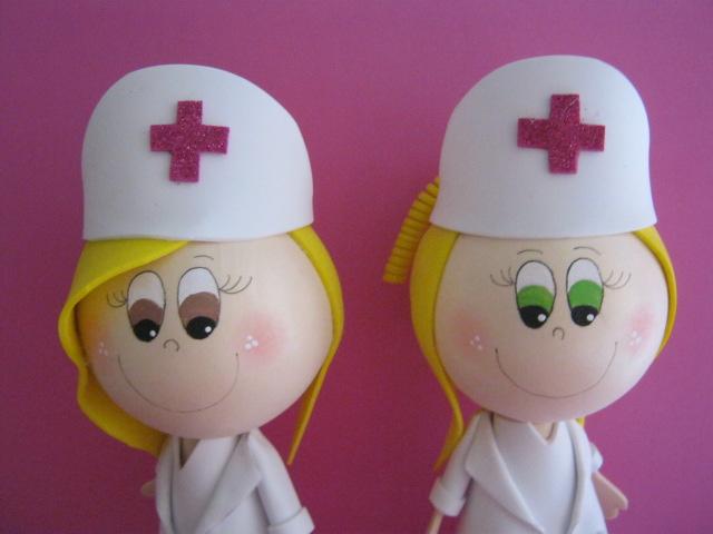 Enfermeras Fofuchas nuevos modelos Artfoamicol artesanías en foami