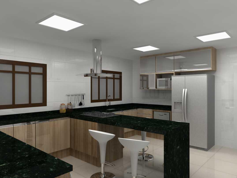 : Projeto Sala Cozinha e Banheiro Decoradora Linéia Carvalho #5C4E3C 1075x806 Banheiro Autocad 3d