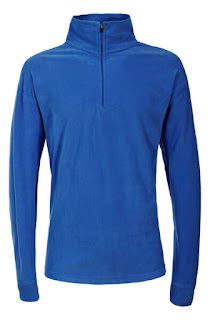 Trespass Men's Duty AirTrap100 1/2 Zip Fleece Jumper - Electric Blue
