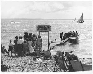 Speedboat at Southsea 1950's