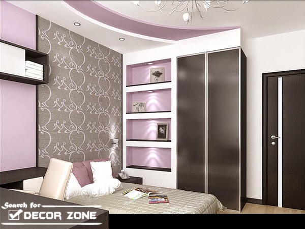 False ceiling designs with backlight and spotlight lighting systems - 30 False Ceiling Designs For Bedroom Kitchen And Dining Room