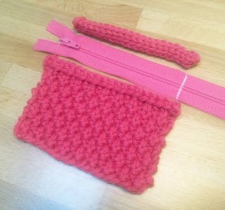 finishing, knitting, purse, sew, yarn, pink, design, zipper, pocket, pouch