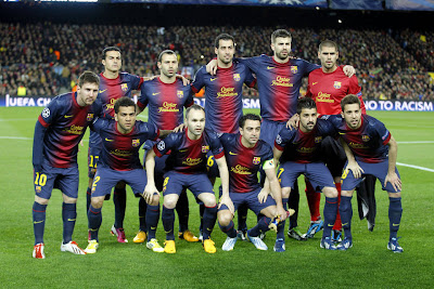 FC Barcelona Team Photo AC Milan Champions League