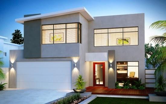 gambar desain rumah tingkat minimalis 2 lantai modern