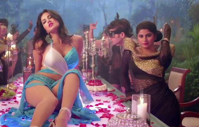 Sunny Leone big thunder thighs juicy legs exposing hd pics photo gallery in pink lips song