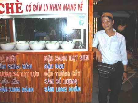 """Độc đáo quán """"Chè 3 chàng"""" ở Nha Trang, món ăn vặt, am thuc, dia chi an uong, diemanuong365.blogspot.com"""