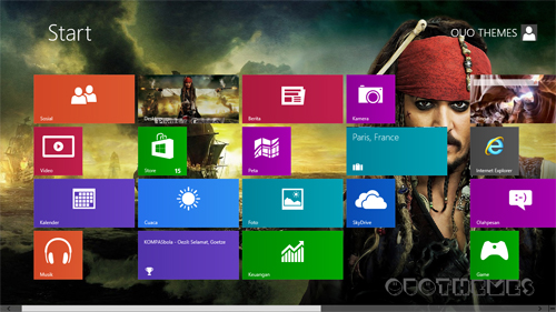 Pirates Of Caribbean Theme For Windows 8