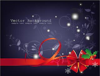 漫画タッチのクリスマス飾りと背景 beautiful christmas ornaments イラスト素材6