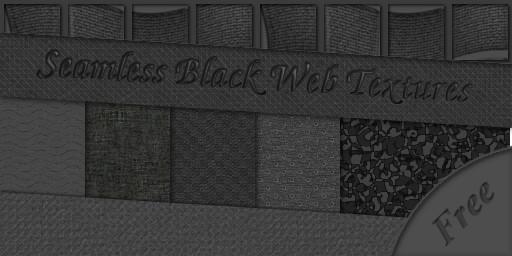 free seamless black web textures