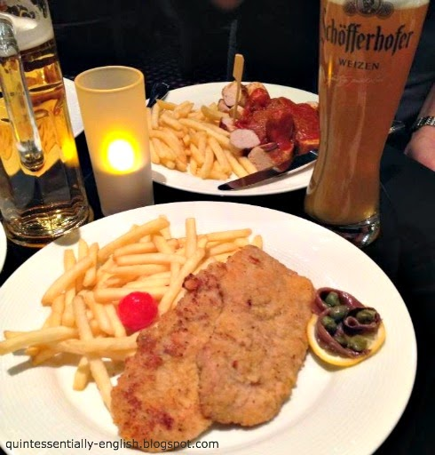 German Food - currywurst and schnitzel