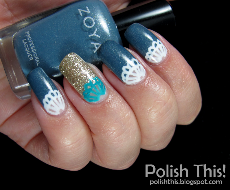 Lace Nail Art with Sally Hansen I Heart Nail Art Pens - Polish This!