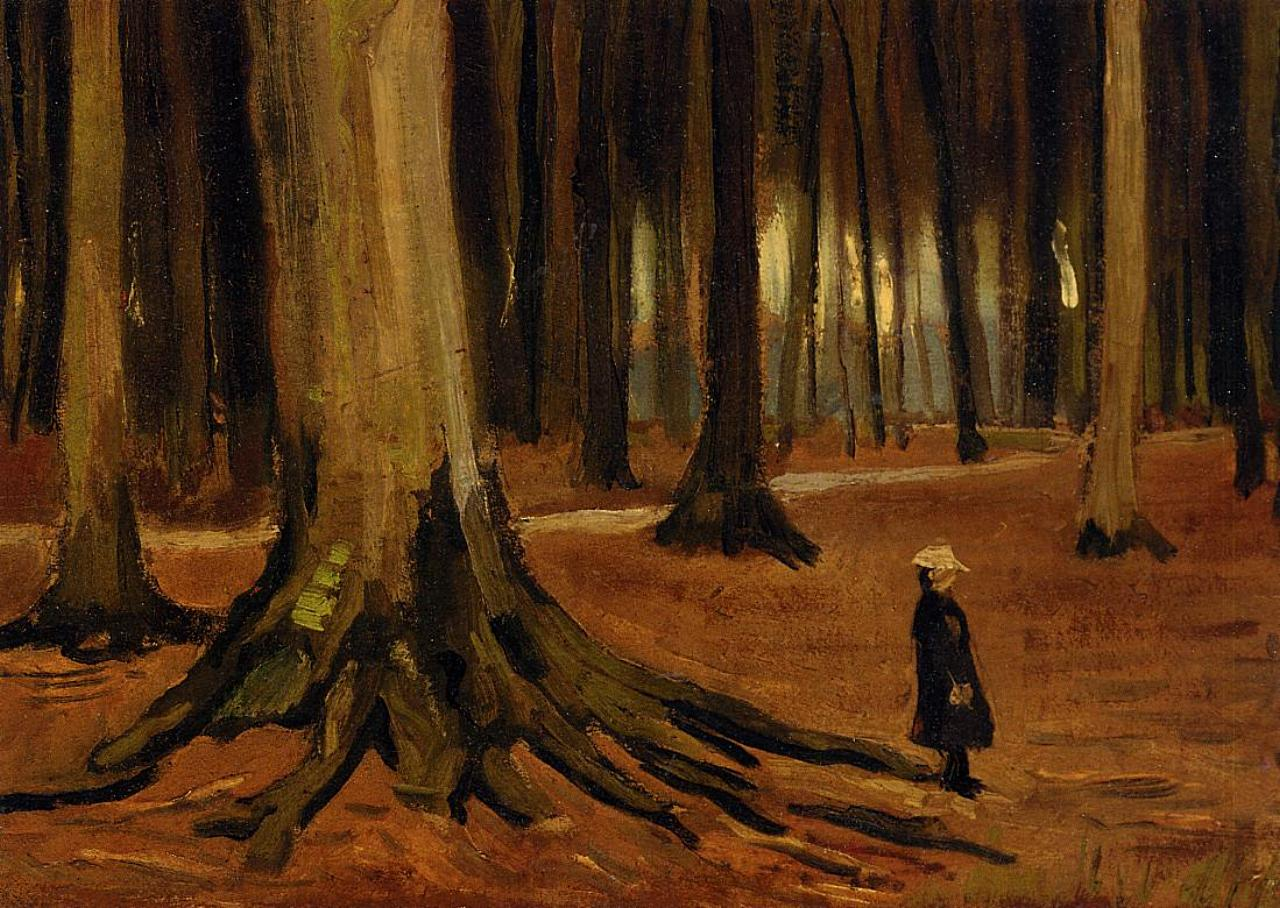 Girl in the Woods by Vincent van Gogh
