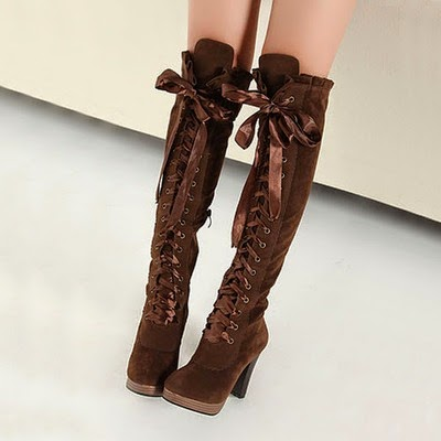 http://cuteharajuku.storenvy.com/collections/399363-boots/products/3505328-fashion-ladies-sexy-bow-boots-lace-up-knee-high-heeled-boots