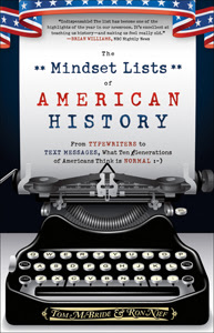 "Photo image of cover of ""The Mindset Lists of American History"" book"