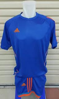 gambar online photo Jersey setelan futsal Adidas X-Sillo warna biru 2015