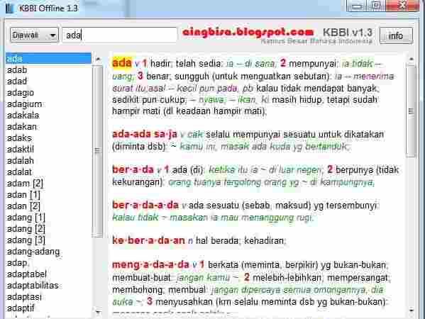 KBBI Offline 1.3 Dengan Perbaikan Dan TambahanFitur !EXCLUSIVE! KBBI