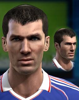 Zinedine Zidane Face PES 2013 by Agiga